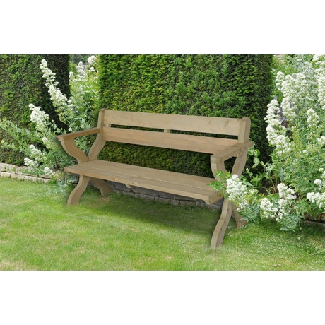 Ragley Garden Bench - Rustic Timber