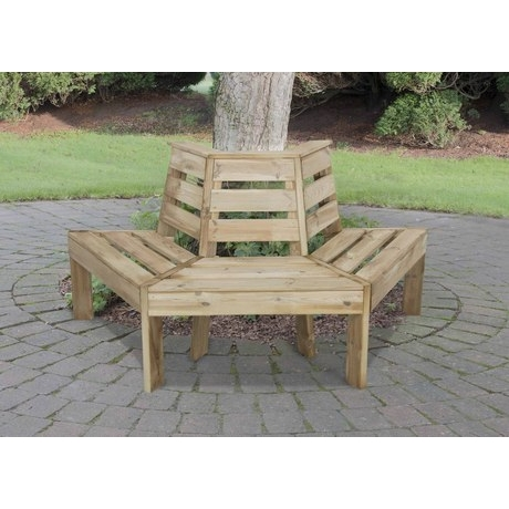 Forest Timber Tree Seat - Half Round