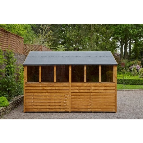 8x12 Overlap Apex Shed Double Door Dip Treated