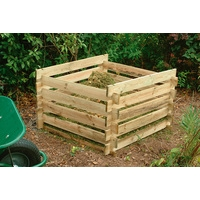Forest Garden Wooden Composter - 400L