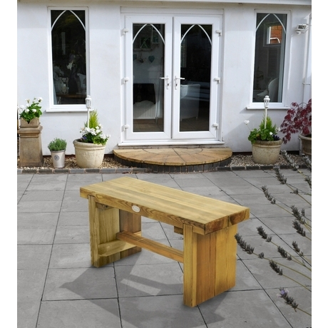 Forest Double Sleeper Bench 1.2M Outdoor Furniture Wooden Seating Garden Wood