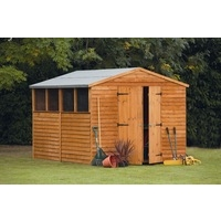 8x10 Overlap Apex Workshop Shed Dip Treated