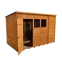10x6 Overlap Pent Garden Shed Dip Treated