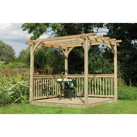 Ultima Pergola With Deck Kit 2.4 x 2.4m