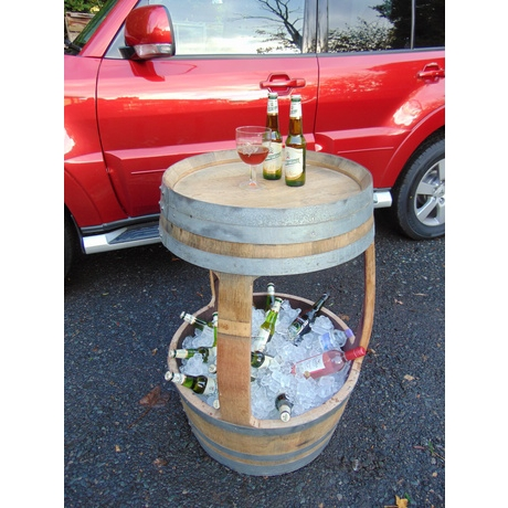 French Wine Barrel Table Drinks Cooler