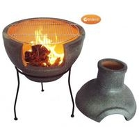 Cozumel Multi Function Chimenea & BBQ