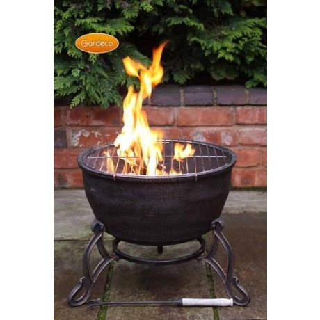 Gardeco Elidir Fire Bowl With Grill -Cast Iron