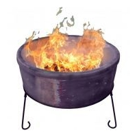 Atlas Jumbo Fire Bowl - Chimalin AFC Clay - Mottled Purple