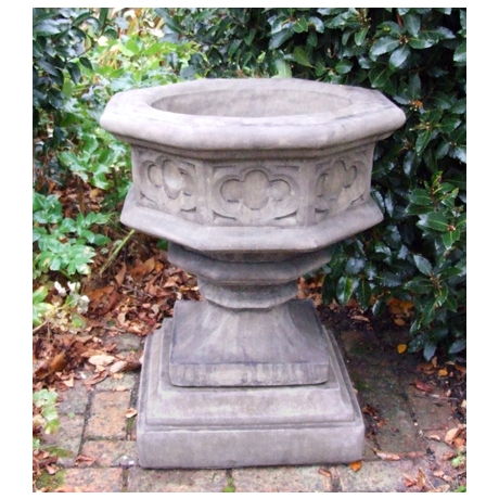 Gothic Font Cotswold Stone Planter