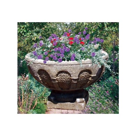 Grand Medieval Cotswold Stone Bowl Planter