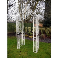Grand Victorian Rose Arch - Cream Metal