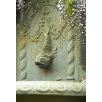 Great Dolphin Bowl Wall Fountain - XL Bronzage
