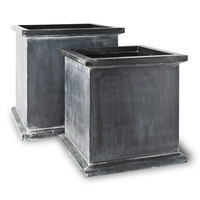 Grosvenor Planters - Antique Faux Lead