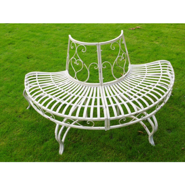 Barrel Amp Garden Round Cast Iron Tree Seat Garden Bench