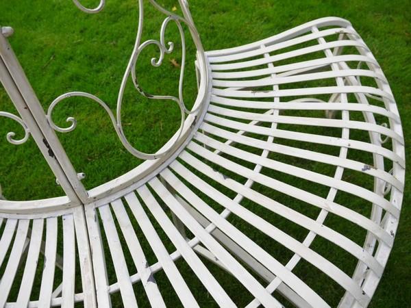 Superb Barrel Garden Round Cast Iron Tree Seat Garden Bench Squirreltailoven Fun Painted Chair Ideas Images Squirreltailovenorg