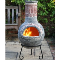 Plumas Mexican Clay Chimenea - Large