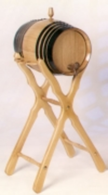 Seasoned Oak 16 L Wine Barrel with high Stand
