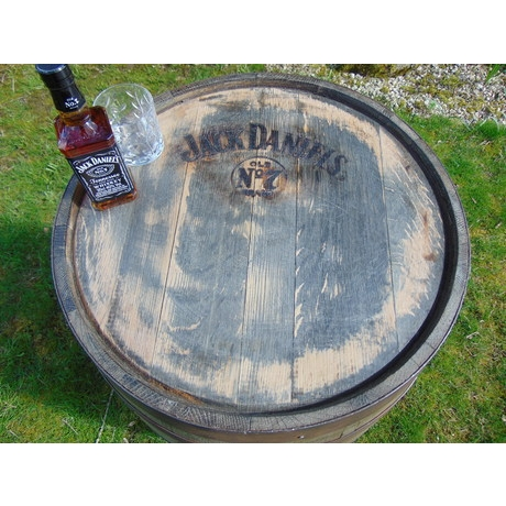 Jack Daniels No7 Branded Barrel Table - 45 Gallon
