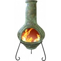 Tibor Jumbo Clay Mexican Chimenea - Green