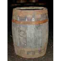 Kilderkin  Strawberry Barrel Planter - Natural Finish