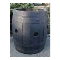 Kilderkin Barrel Planter - Strawberry Dark Stained Finish