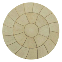 Abbey Twist Circle Paving Kit 2.4mtr York Gold
