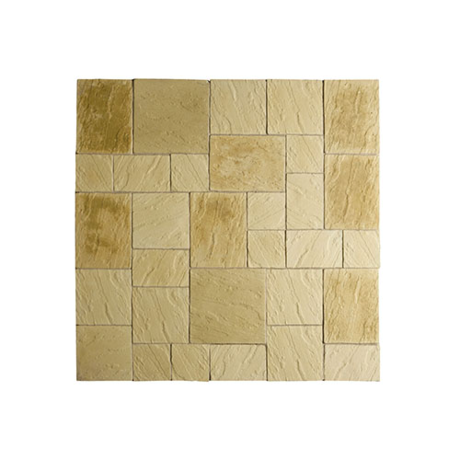 Abbey Paving Random Patio Kit 5.76 m - York Gold
