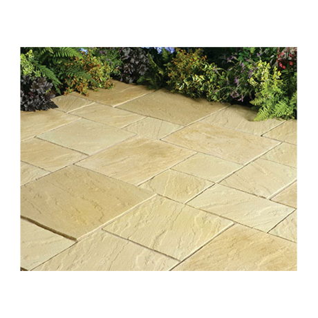 Abbey Paving Random Patio Kit 10.22 m - York Gold