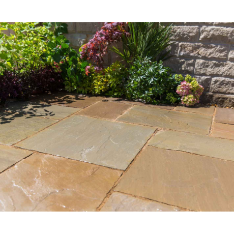 Natural Sandstone Patio Kit 10.2 m - Corn Field