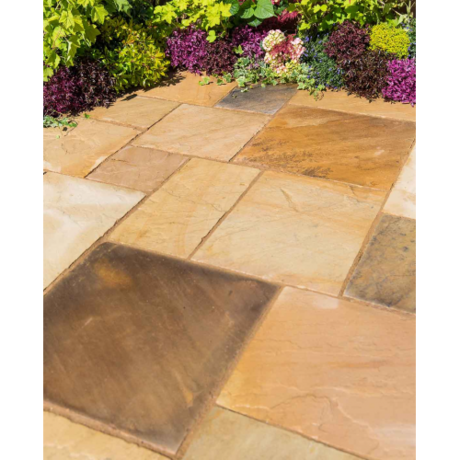 Natural Sandstone Patio Kit 10.2 m - Eastern Sand