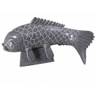 Koi Granite Water Sculpture - Small
