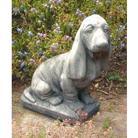 Large Basset Stone Dog Statue