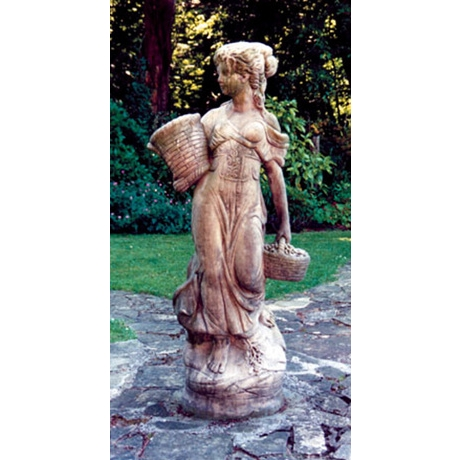 Large Country Girl - Cotswold Stone Statue