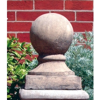 Ball On Base Finial - Cotswold Stone