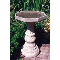 Classical Bird Bath Plain Bowl - Cotswold Stone