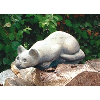 Statues ornaments and sculptures crouching stone cat workwithnaturefo