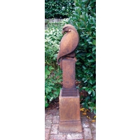 Eagle Stone Statue - Rust Finish
