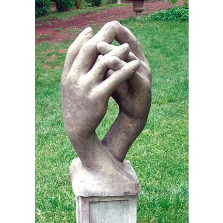 Entwined Hands Contemporary Cotswold Stone Sculpture