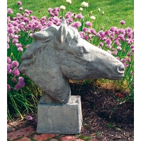 Equine Bust - Stone Sculpture