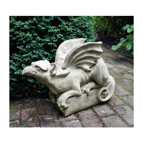 Griffin Up Stone Statue