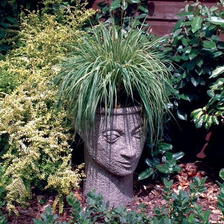 Head Vase Planter - Cotswold Stone