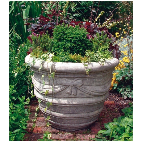Large Draped Vase - Cotswold Stone Planter