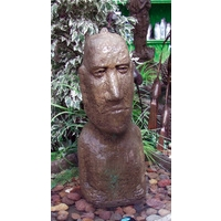 Large Moai Head Stone Fountain