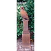Owl Stone Sculpture - Rust Finish