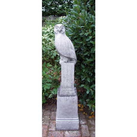 Owl Stone Sculpture - Old Slate Finish