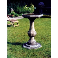 Pedestal Bird Bath Plain Bowl - Cotswold Stone