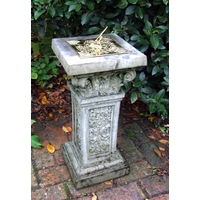 Rococo Brass Garden Sundial - Cotswold Stone