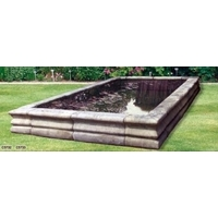 Roman Rectangular Stone Pool Surround