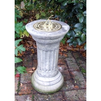 Classical Brass Garden Sundial - Cotswold Stone