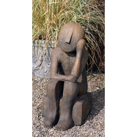 Stanley Contemporary Stone Statue - Burnt Umber